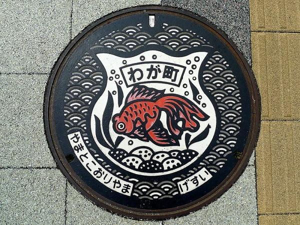Hoa văn nắp cống ở Tokyo