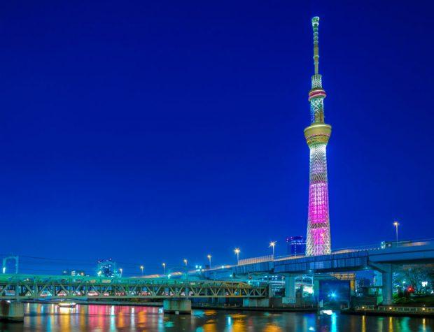 Tháp-truyền-hình-Tokyo-skytree-sắc-màu
