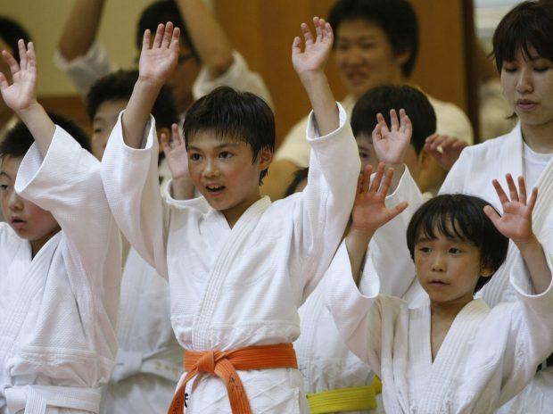 Trẻ em trong đội Judo