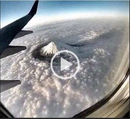 Núi phú sĩ như đào giữa biển mây