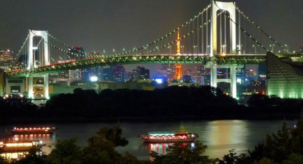 Đảo nhân tạo Odaiba về đêm