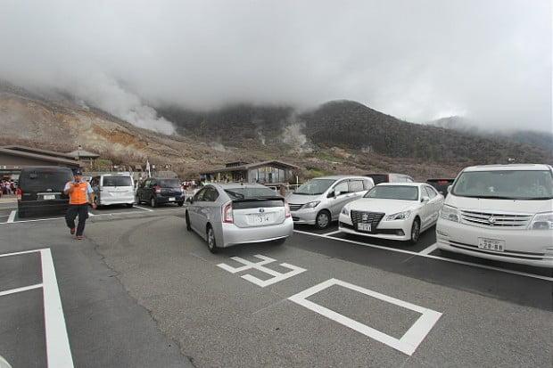 Con đường dẫn đến Owakudani đã mở cửa cho xe ô tô