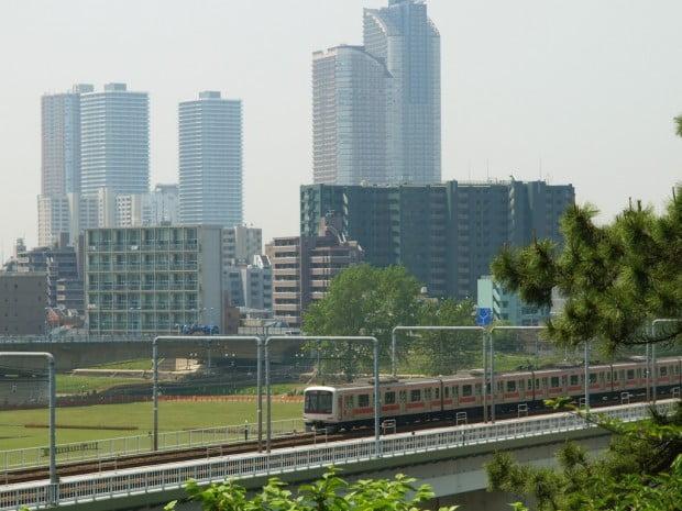 Musashi Kosugi với những tòa nhà cao tầng
