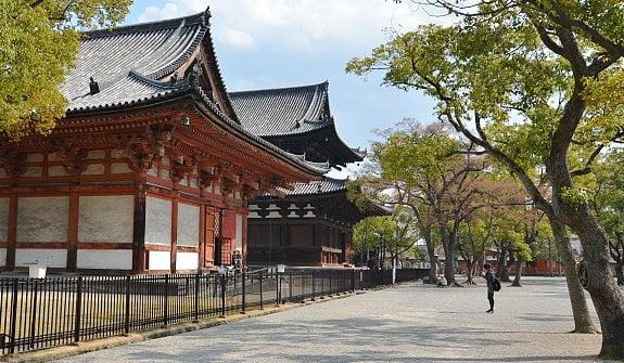 Chính điện chùa Toji ở Kyoto, Nhật Bản