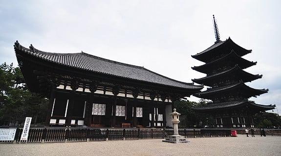 Chùa Kofukuji ở Nara, Nhật Bản