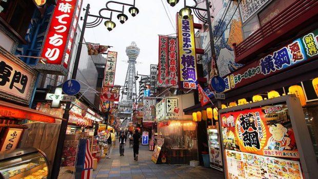 con đường ẩm thực Shinsekai - Osaka