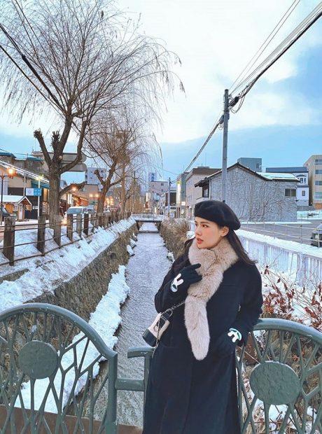 Diễn viên Phương Anh trải nghiệm mùa đông Nhật Bản