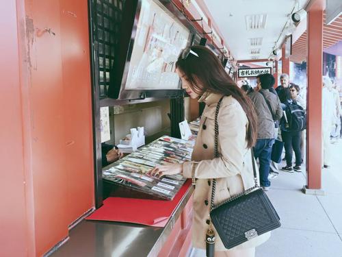 Hoa Hậu Kỳ Duyên đi du lịch Nhật
