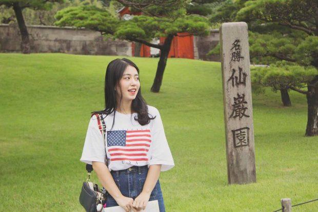 Hot girl Mẫn Tiên ở Nhật