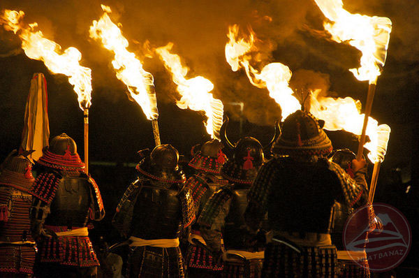 Innoshima-Suigun-Matsuri-samurai-torches-64