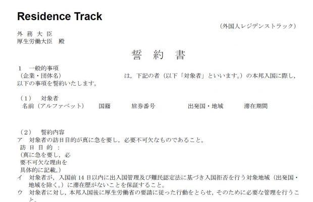 Mẫu bản cam kết visa kỹ sư Nhật Bản