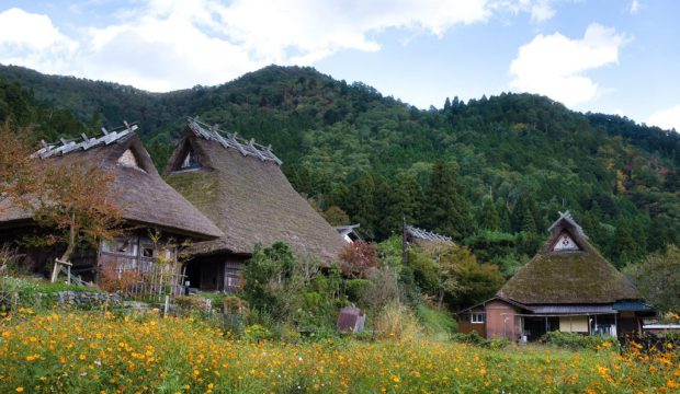 Một ngôi làng nhỏ cách trung tâm Kyoto hai giờ lái xe.