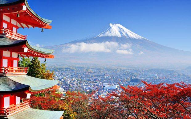 Ngắm lá đỏ Phú sĩ Nhật bản