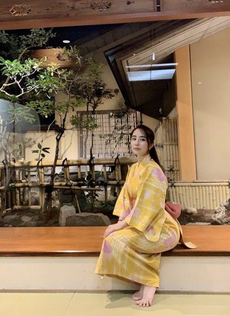 Quỳnh Nga với Kimono