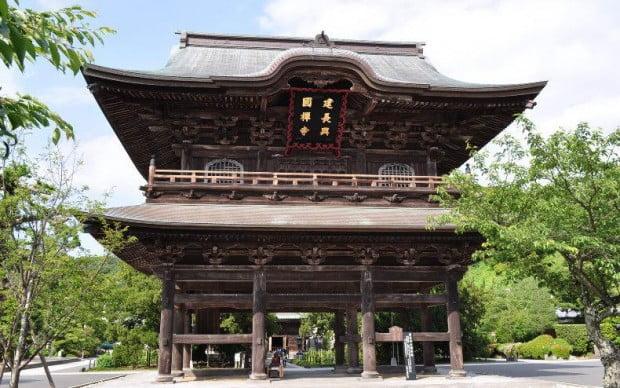 Sân đền Kenchoji ở Kamakura, Nhật Bản