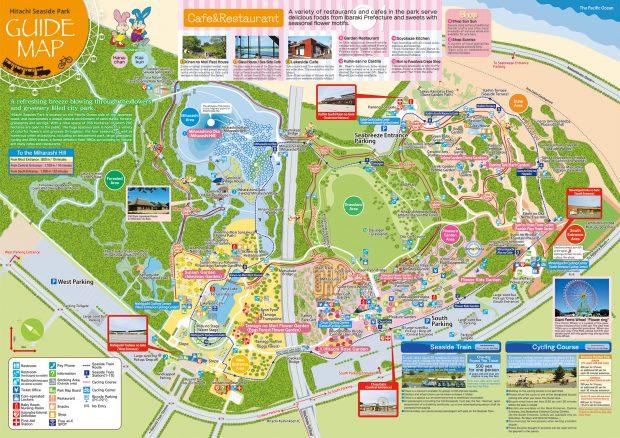 Bản đồ công viên bở biển Hitachi