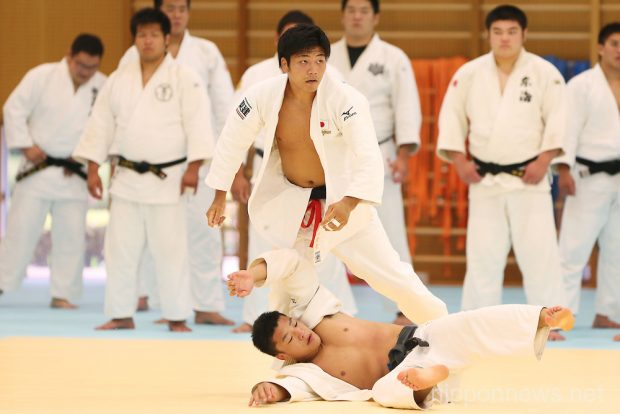 Masashi Nishiyama (JPN), August 13, 2013 - Judo : Japan Men's National Team Training Camp at Ajinomoto National Training Center, Tokyo, Japan. (Photo by Daiju Kitamura/AFLO SPORT)