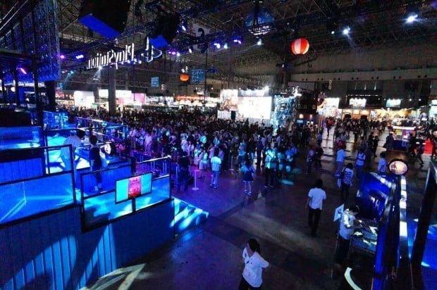 khung cảnh hoành tráng trong tokyo game show
