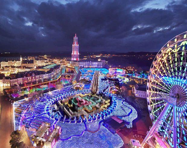 Nagasaki lung linh đèn màu năm mới