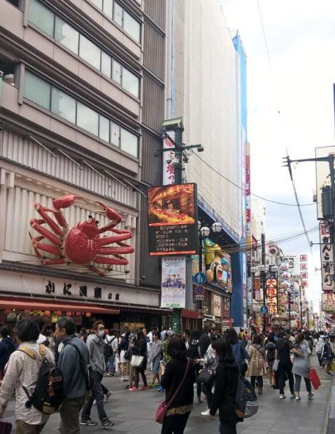 Nhà hàng cua đỏ KANI-DORAKU-CRAB nổi tiếng ở Osaka